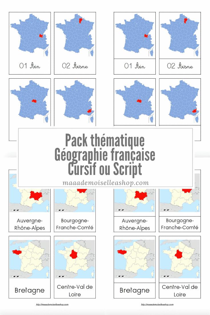 Maaademoiselle A. Shop - Pack thématique - Géographie française