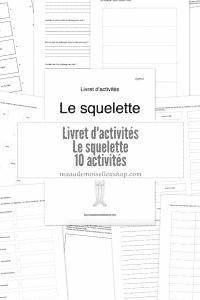 Maaademoiselle A. Shop - Livret d'activités - Le squelette