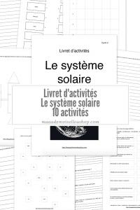 Maaademoiselle A. Shop - Livret d'activités - Le système solaire
