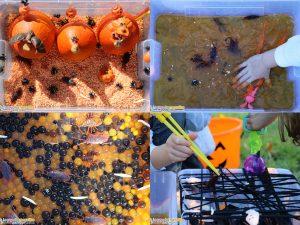 10 idées sur le thème d'Halloween (activités, jeux, recette, livres) - Bacs sensoriels d'Halloween