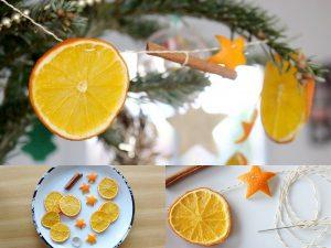 Maaademoiselle A. Shop - 10 idées sur le thème de Noël (activités, jeux, recette, livres) - Guirlande de Noël au parfum d'orange