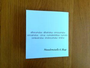 Tuto : Comment mettre en forme la pochette de rangement ? - Cartes de nomenclature Nuages Maaademoiselle A. Shop