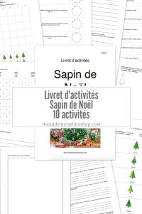 Maaademoiselle A. Shop - Nouveautés de décembre 2020 - Livret d'activités Sapin de Noël, primaire