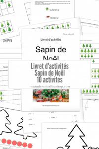 Maaademoiselle A. Shop - Nouveautés de décembre 2020 - Livret d'activités Sapin de Noël, maternelle