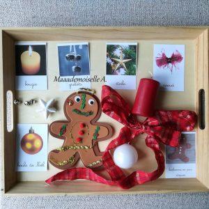 Maaademoiselle A. Shop - 10 idées sur le thème de Noël (activités, jeux, recette, livres) - Mise en paires décorations de Noël et cartes de nomenclature
