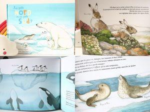 Maaademoiselle A. Shop - 10 idées sur le thème des animaux polaires (activités, jeux, livres) - Livre Au pôle Nord ou au pôle Sud