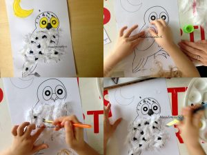 Maaademoiselle A. Shop - 10 idées sur le thème des animaux polaires (activités, jeux, livres) - Créer un harfang des neiges