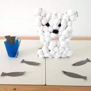 Maaademoiselle A. Shop - 10 idées sur le thème des animaux polaires (activités, jeux, livres) - Ours gourmand