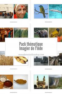 Maaademoiselle A. Shop - Nouveautés d'avril 2021 - Pack thématique - Imagier de l'Inde
